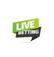 live betting isolated icon paper sticker vector image vector image