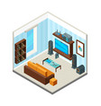 living room interior entertainment home theatre vector image vector image