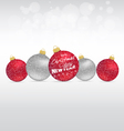 Merry christmas and happy new year with balls vector image