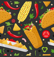 Mexican food color seamless pattern
