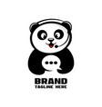 modern panda chat logo vector image vector image