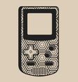monochrome vintage game console vector image