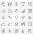 Motivation icons set vector image vector image