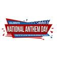 national anthem day banner design vector image vector image