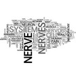 nerves word cloud concept vector image
