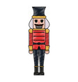 nutcracker toy christmas related icon image vector image vector image