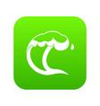 ocean or sea wave icon digital green vector image vector image