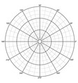 polar grid vector image vector image
