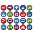 round icons set some transport facilities vector image vector image