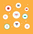 set of magazine icons flat style symbols with vector image vector image