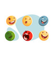 set smiles vector image vector image