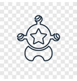 sheriff concept linear icon isolated on vector image vector image