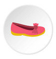 shoe icon circle vector image vector image