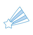 shooting star isolated icon vector image vector image