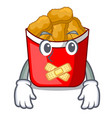 silent chicken nuggets in a mascot bowl vector image vector image