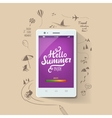 Summer poster Hello summer typographic vector image vector image