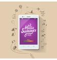summer poster hello typographic vector image vector image