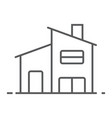 two storey house thin line icon real estate vector image