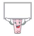 up board raspberry bubble tea character cartoon vector image vector image