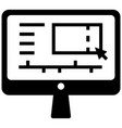 video editor solid vector image vector image