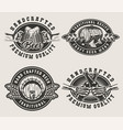 vintage brewing emblems vector image vector image