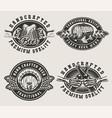 vintage brewing emblems vector image
