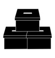 voting box vote icon image vector image vector image