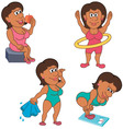 Woman Exercising vector image