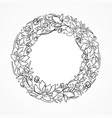 wreath for coloring vector image vector image