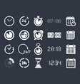 clock time icons vector image