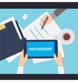 Partnership flat vector image