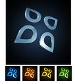 3d vibrant drops vector image vector image