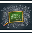 back to school education concept doodle style vector image vector image