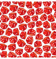 background pattern with red dices vector image vector image
