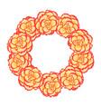 begonia flower picotee sunburst wreath vector image vector image