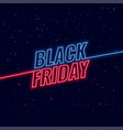 black friday blue and red neon background vector image vector image