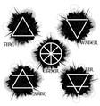 black grunge nature elements vector image