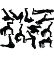 breakdance collection 2 vector image vector image