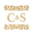 c and s vintage initials logo symbol the letters vector image