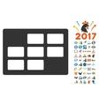 Calendar Table Icon With 2017 Year Bonus Symbols vector image vector image