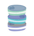 canned fish stacked isolated icon design white vector image