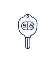 car key with alarm line icon vector image vector image