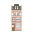 cartoon historical pink building icon highly vector image