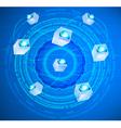 Cloud circling provider vector image