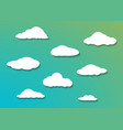 cloud icon set gradient shadow vector image