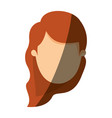 color image shading front view faceless woman with vector image vector image