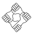community hands icon vector image