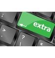 Computer keyboard key - Extra word on it Keyboard vector image vector image