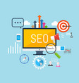 concept of seo vector image vector image