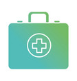contour briefcase with medical cross symbol vector image vector image
